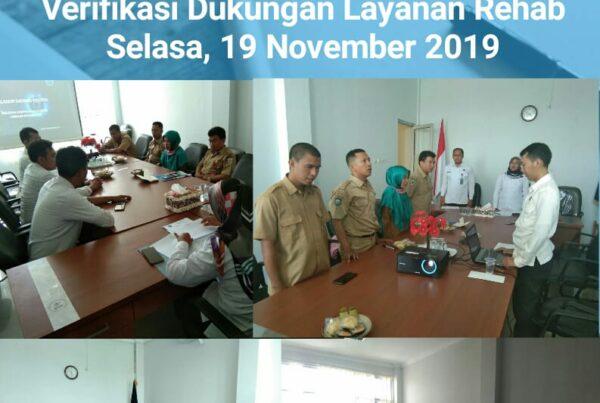 Kegiatan Verifikasi Dukungan Layanan Rehabilitasi BNNK Sumbawa Barat