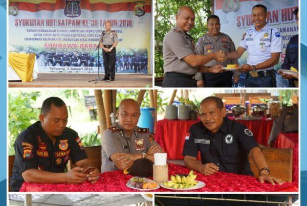 Kepala BNNK Sumbawa Barat Menghadiri Syukuran HUT SATPAM Ke-39 Tahun 2019.