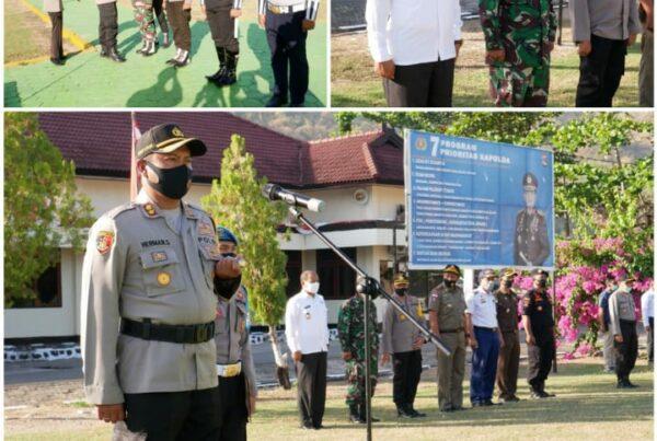 Kepala BNNK Sumbawa Barat Menghadiri Kegiatan Apel Gelar Pasukan Polres Sumbawa Barat