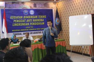 Penggiat Anti Narkoba Mendapatkan Bimbingan Teknis Dari BNNK Sumbawa Barat