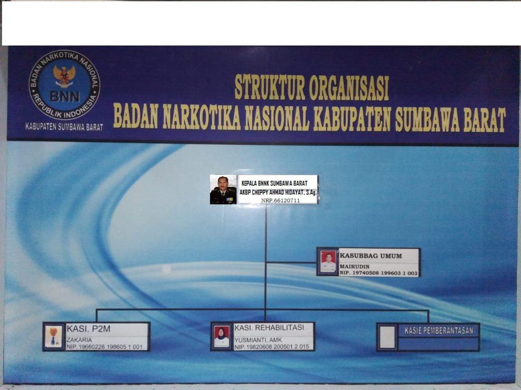 Struktur Organisasi BNNK Sumbawa Barat
